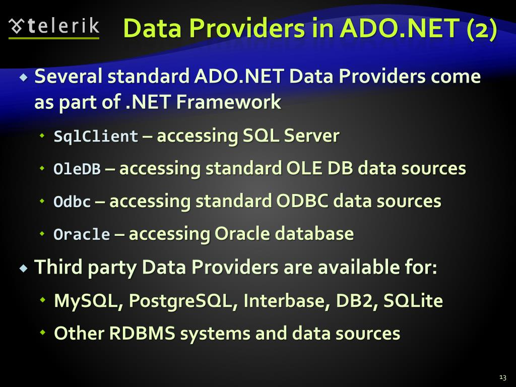 PPT - Data Access with ADO NET PowerPoint Presentation - ID:894520