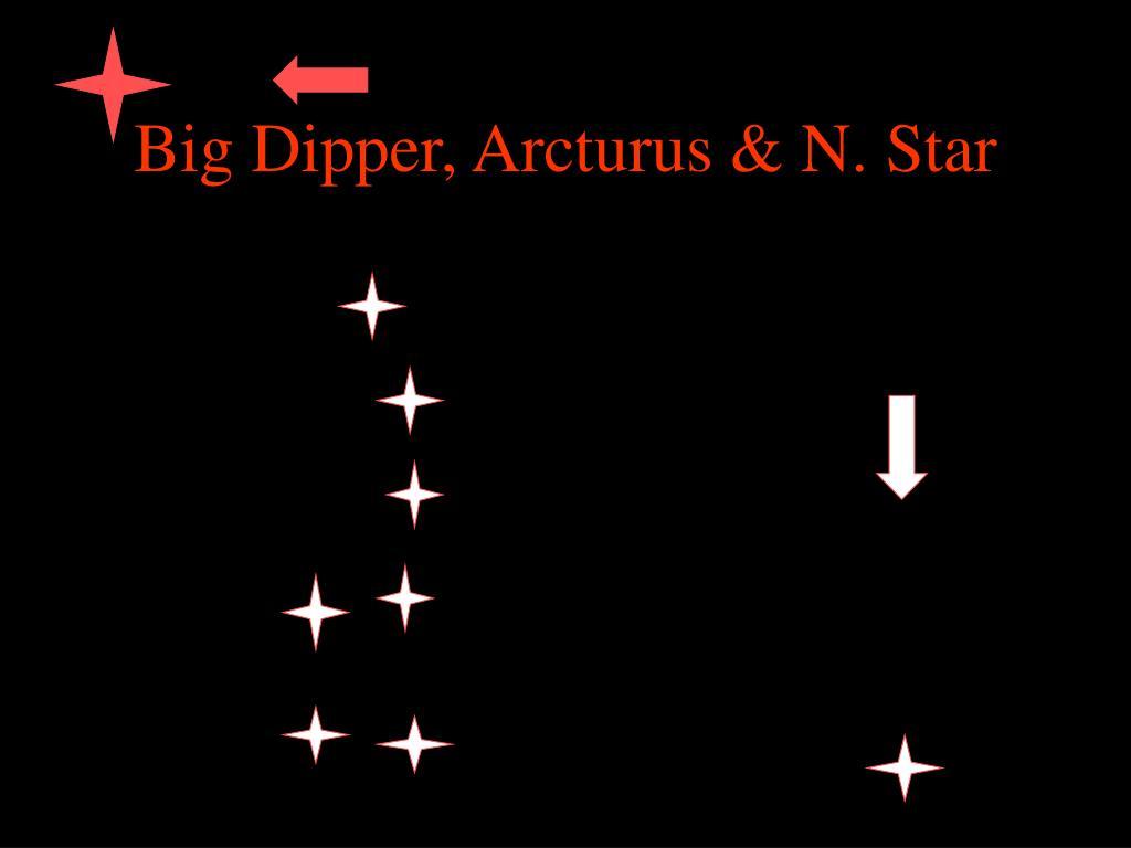 Big Dipper, Arcturus & N. Star