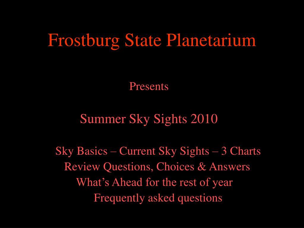 Frostburg State Planetarium