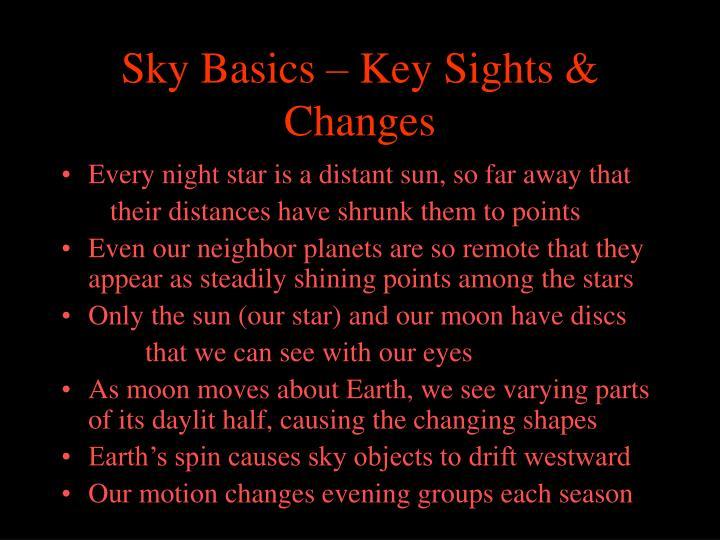 Sky basics key sights changes