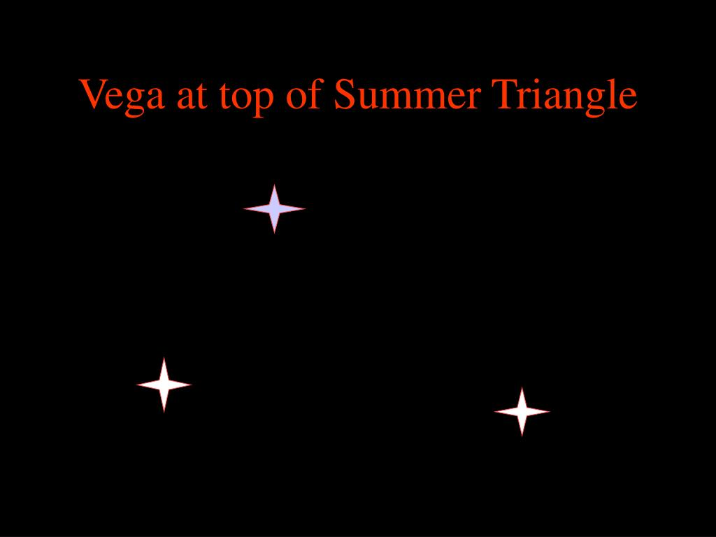Vega at top of Summer Triangle