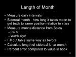 length of month