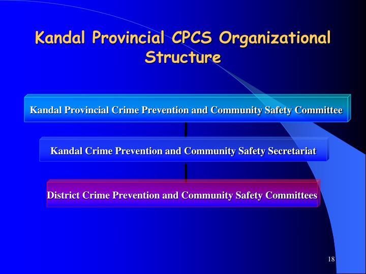Kandal Provincial CPCS Organizational Structure