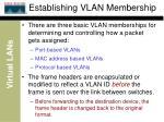 establishing vlan membership