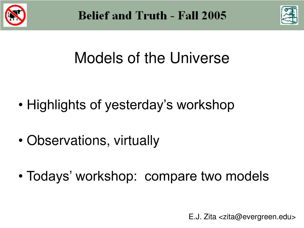 models of the universe l.