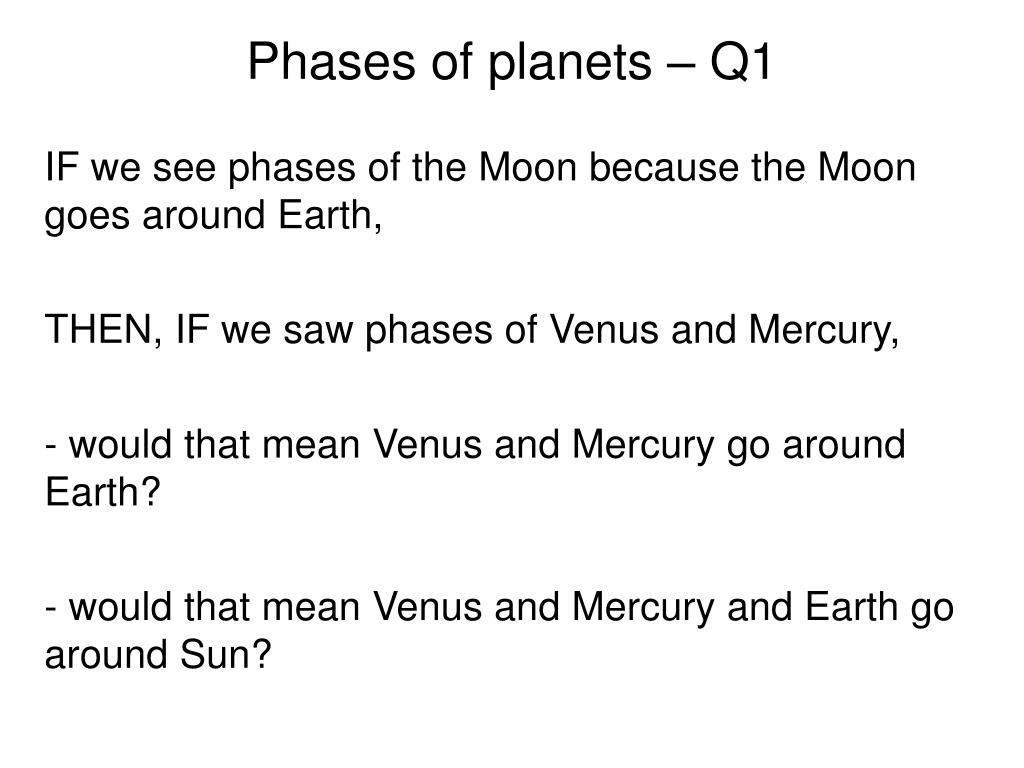 Phases of planets – Q1