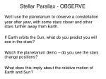 stellar parallax observe