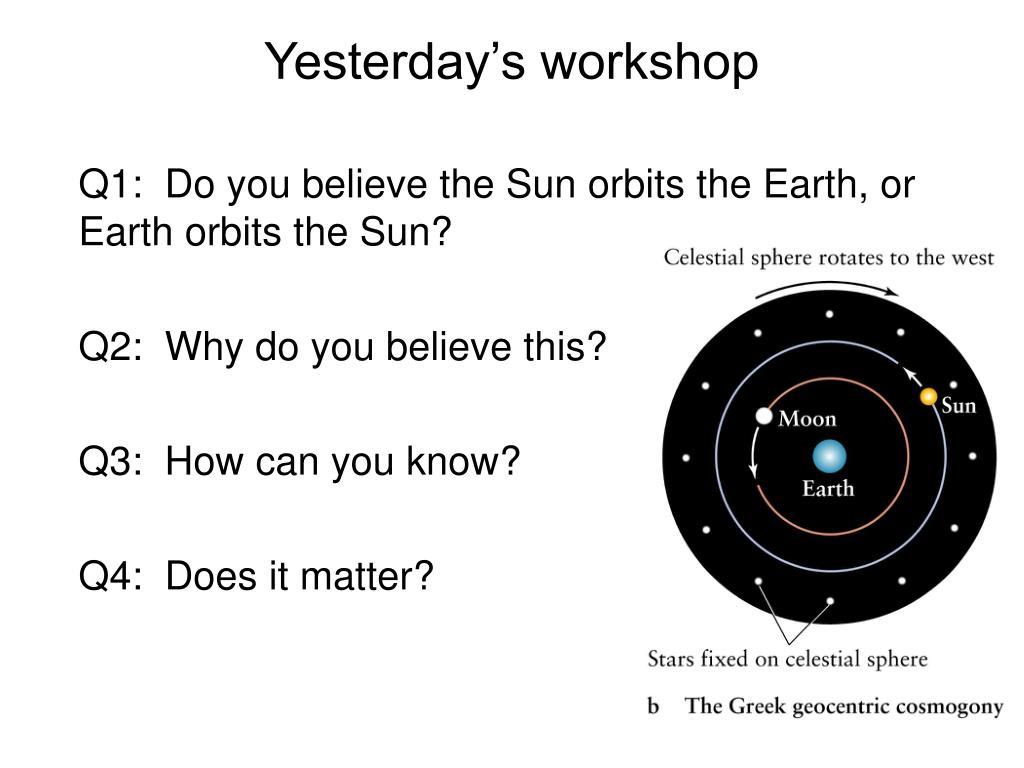 Yesterday's workshop