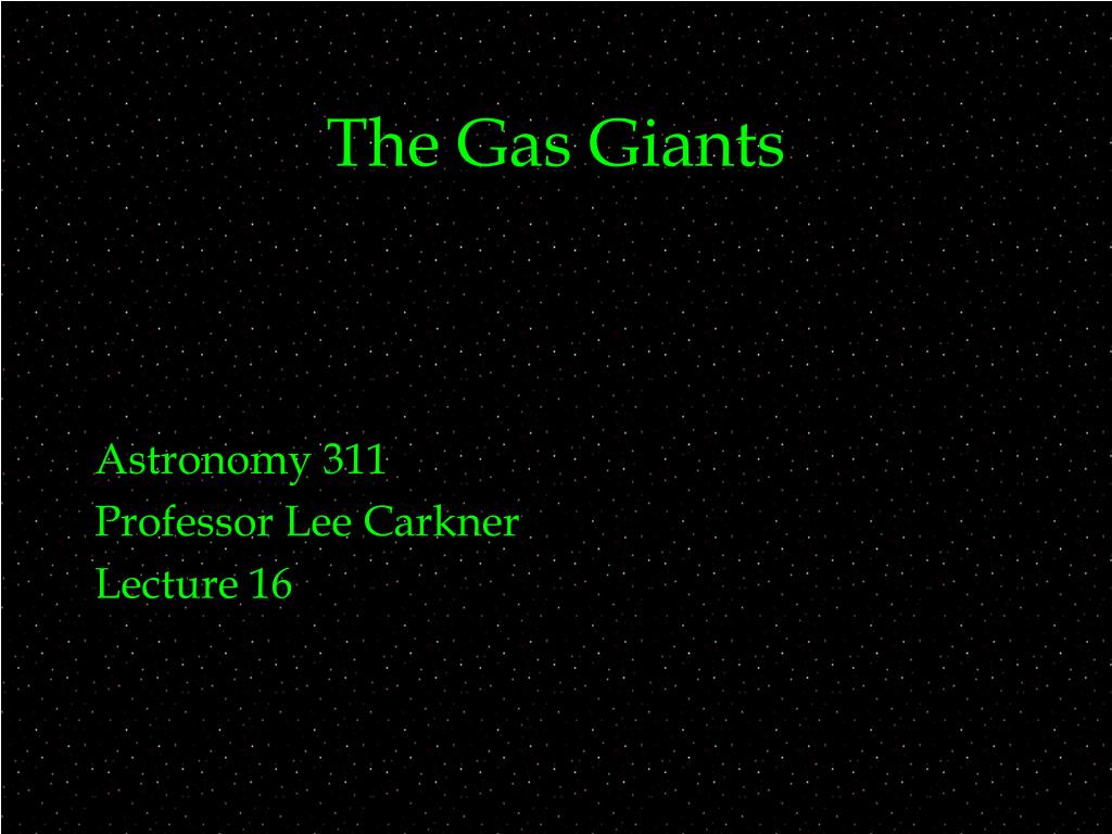 the gas giants l.
