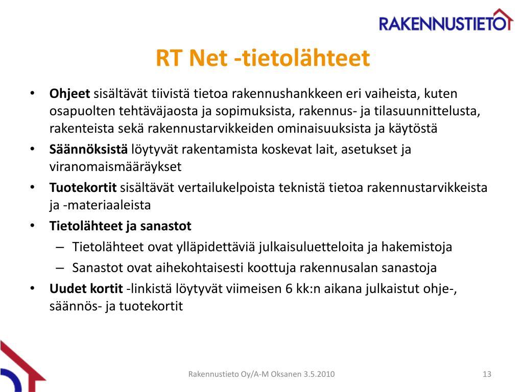 PPT - Rakennustietosäätiö RTS Rakennustieto Oy PowerPoint