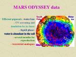 mars odyssey data