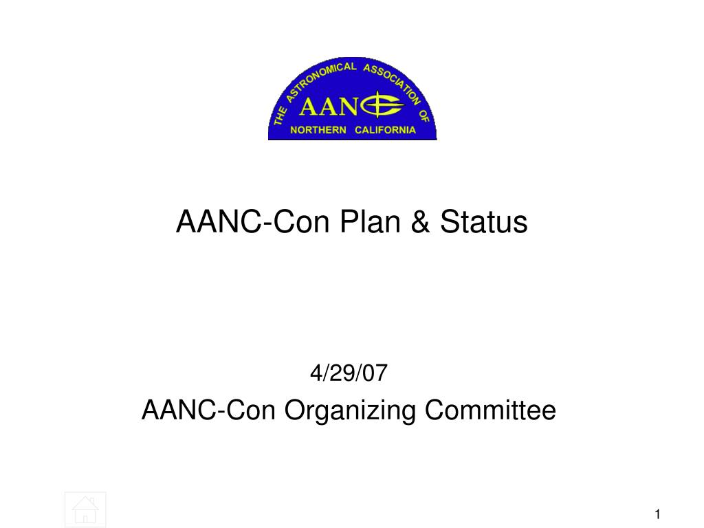 AANC-Con Plan & Status