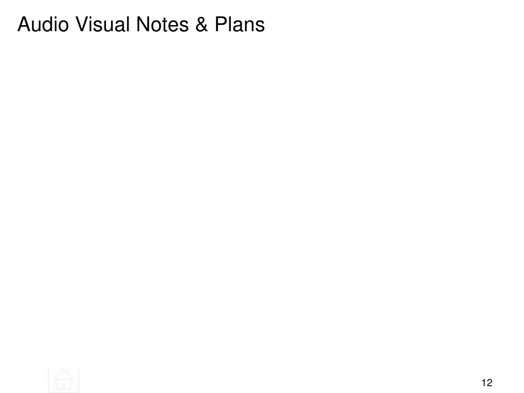 Audio Visual Notes & Plans