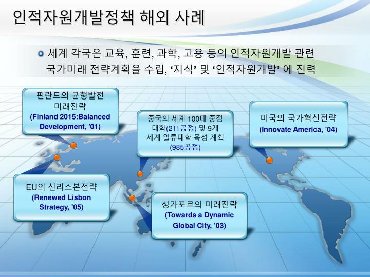 인적자원개발정책 해외 사례