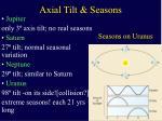 axial tilt seasons