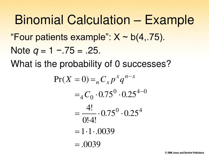 Binomial Calculation – Example