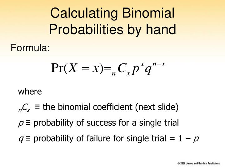 Calculating Binomial Probabilities by hand