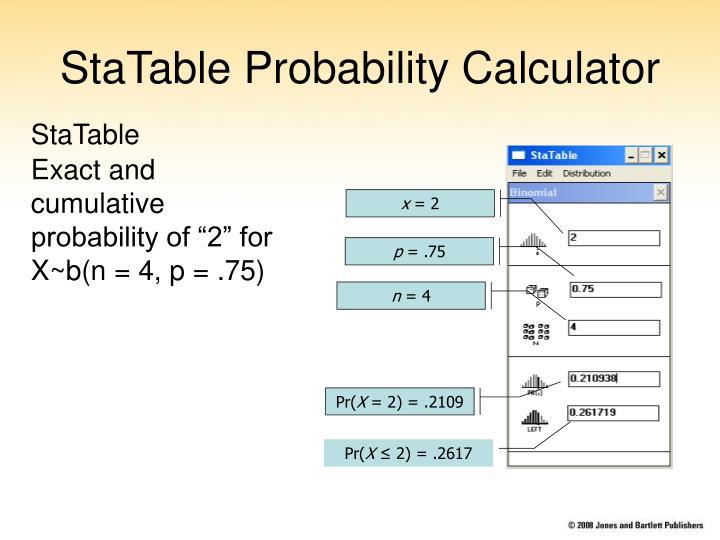 StaTable Probability Calculator