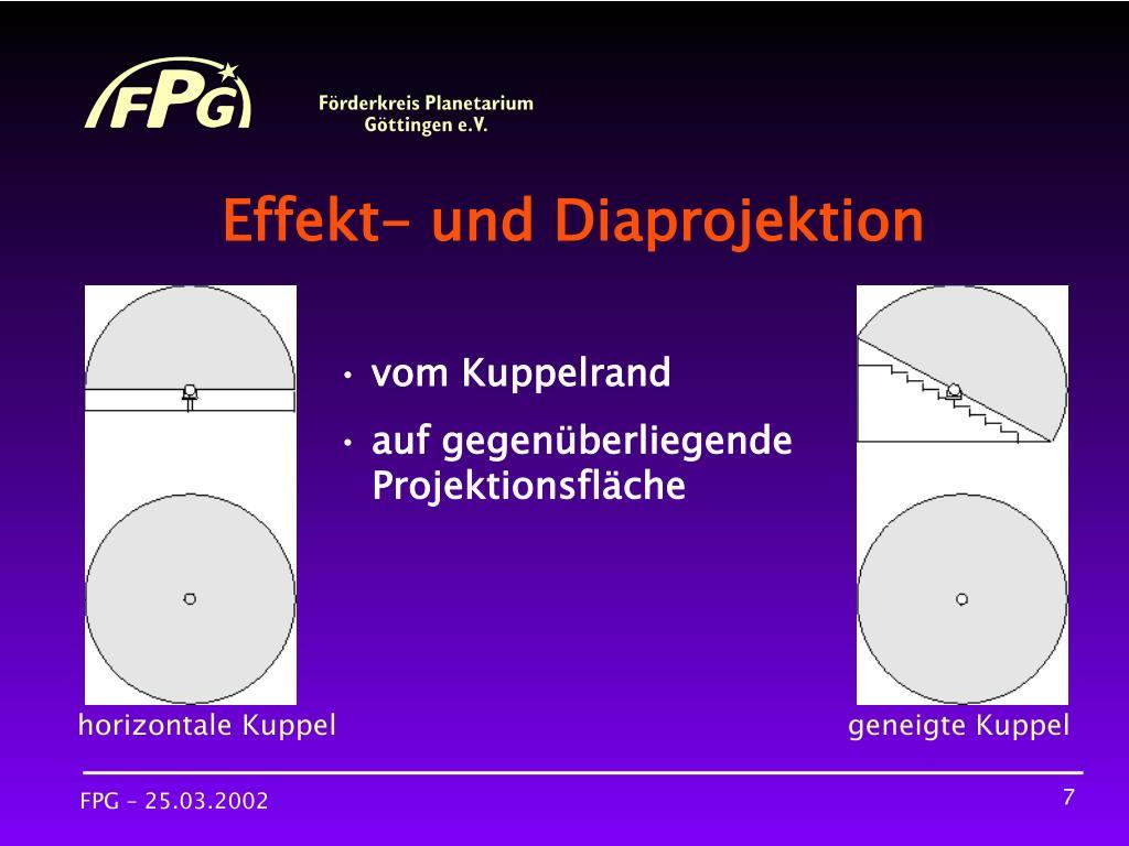 Effekt- und Diaprojektion