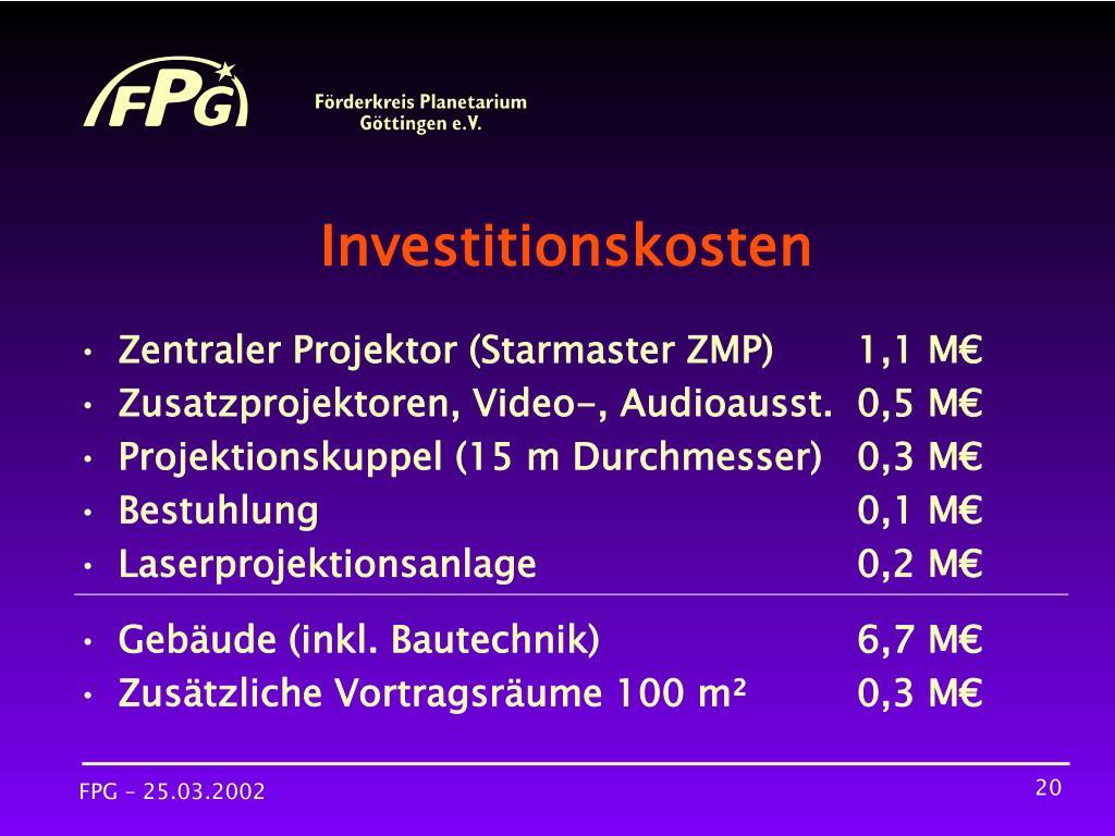 Investitionskosten