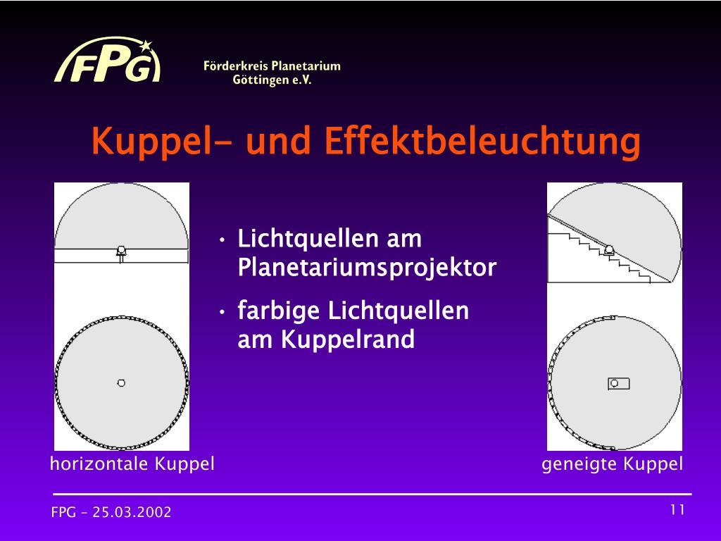 Kuppel- und Effektbeleuchtung