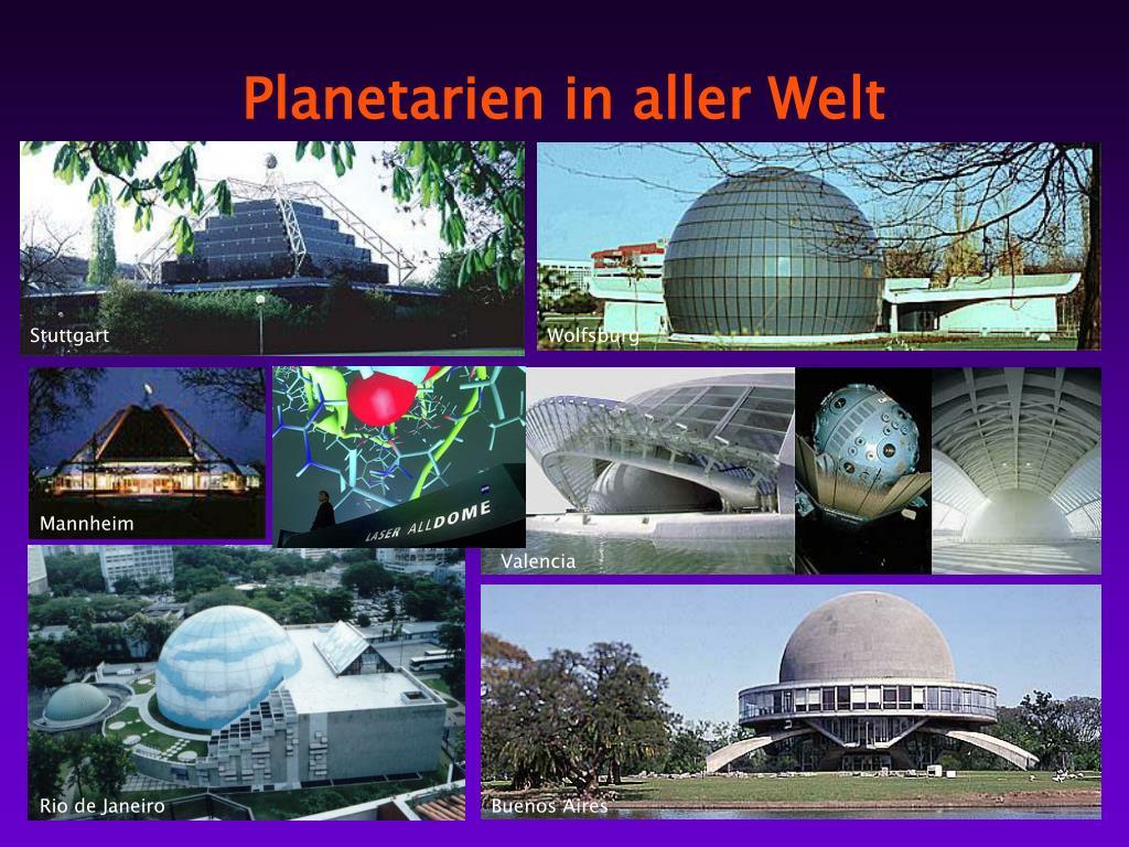 Planetarien in aller Welt