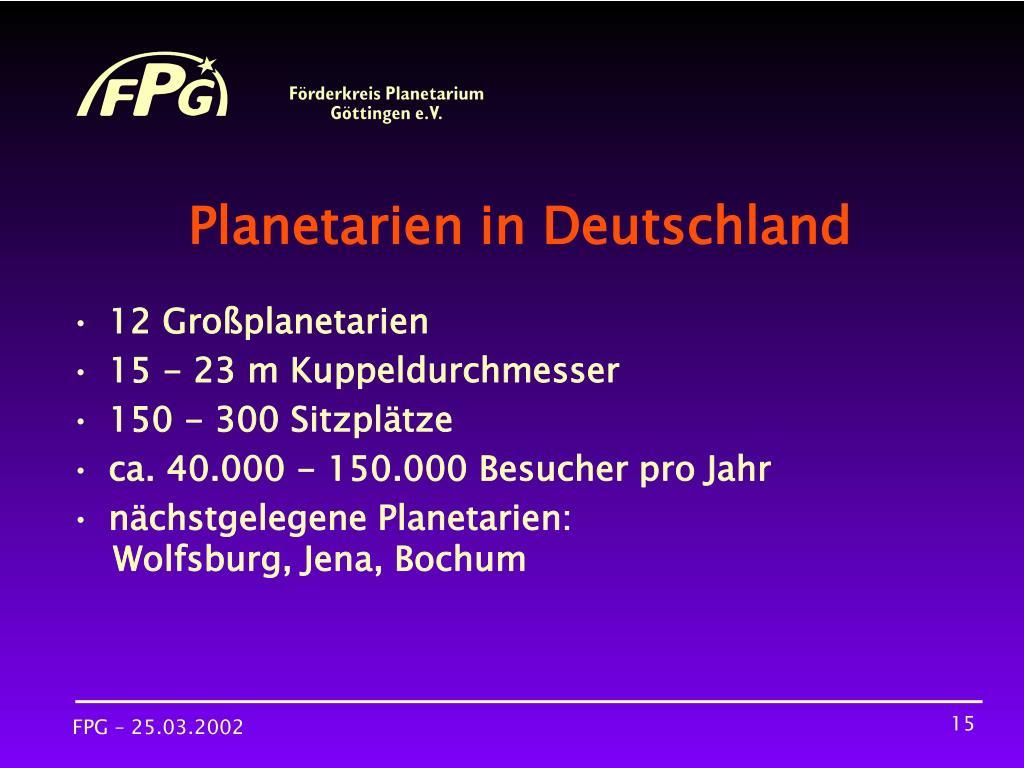 Planetarien in Deutschland