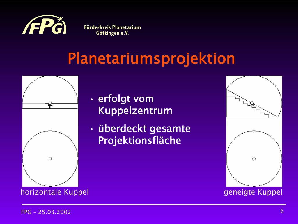 Planetariumsprojektion