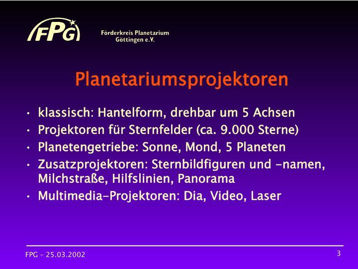 Planetariumsprojektoren
