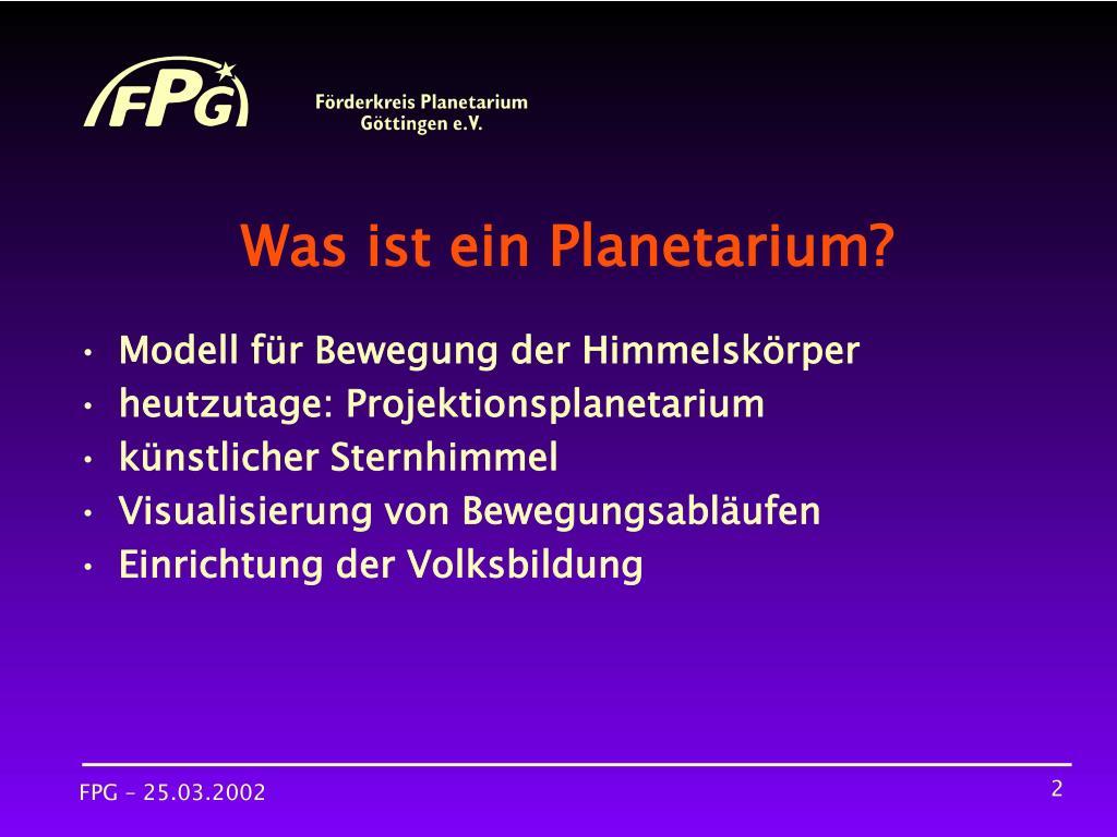 Was ist ein Planetarium?