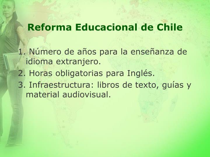 Reforma Educacional de Chile