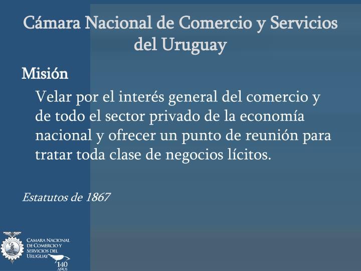 C mara nacional de comercio y servicios del uruguay