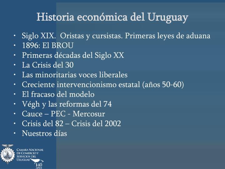 Historia económica del Uruguay