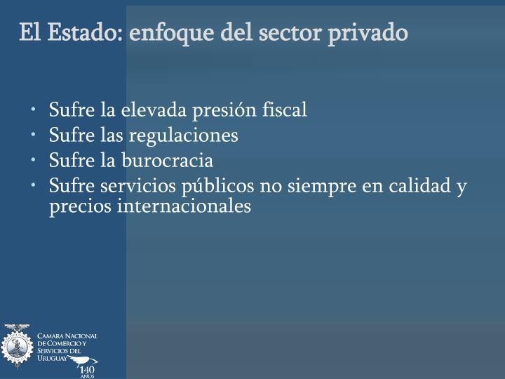 El Estado: enfoque del sector privado