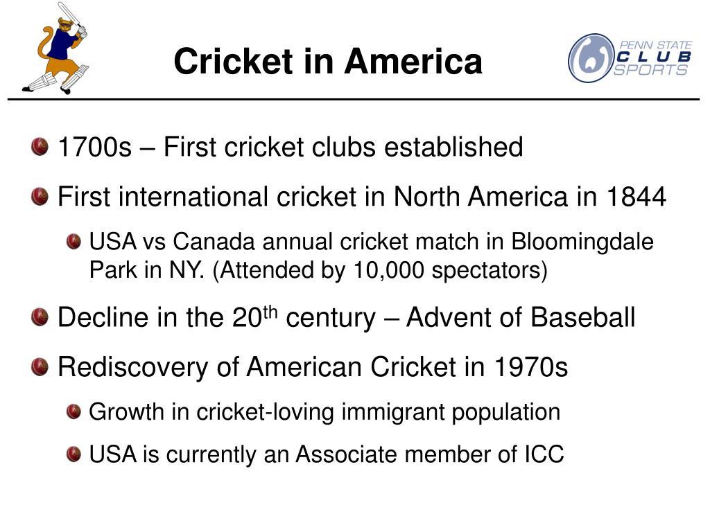 Cricket in America