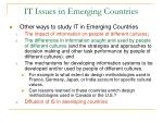 it issues in emerging countries3
