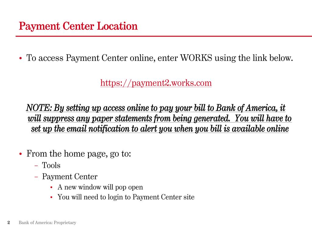 Payment Center Location