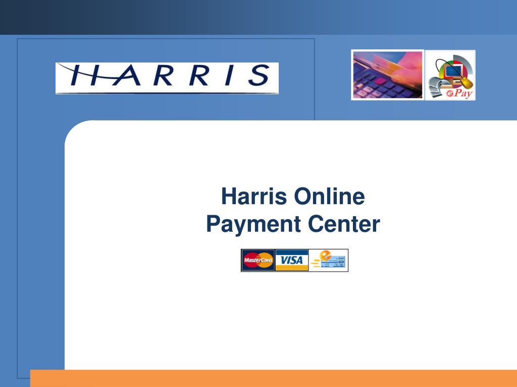 harris online payment center l.