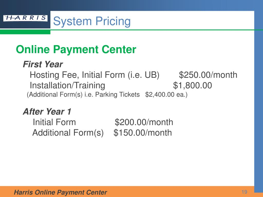 System Pricing