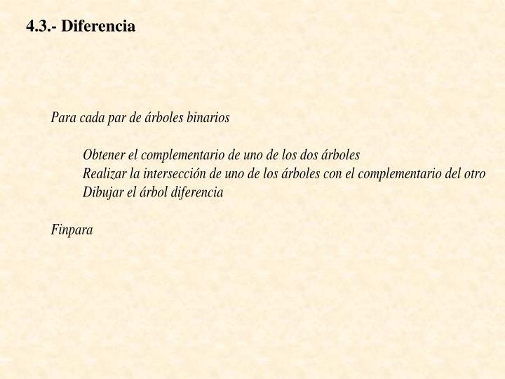4.3.- Diferencia