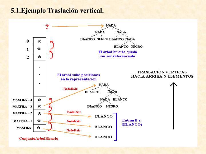 5.1.Ejemplo Traslación vertical.
