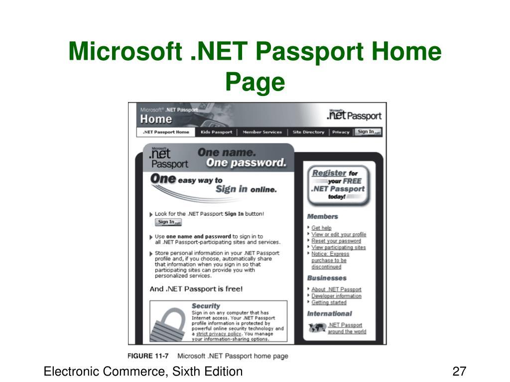 Microsoft .NET Passport Home Page