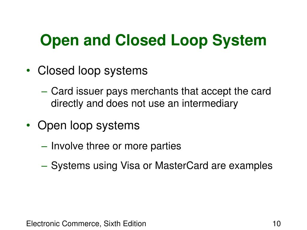 Open and Closed Loop System