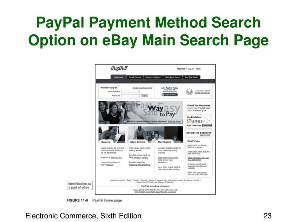 PayPal Payment Method Search Option on eBay Main Search Page