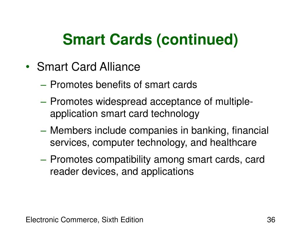 Smart Cards (continued)