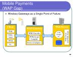 mobile payments wap gap