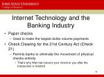 internet technology and the banking industry