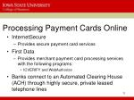 processing payment cards online