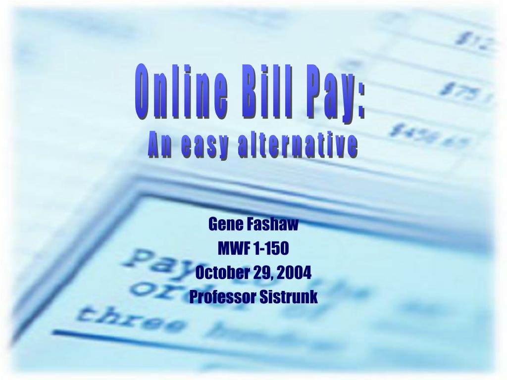 Online Bill Pay: