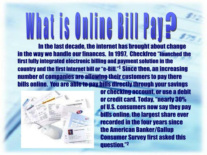 What is Online Bill Pay